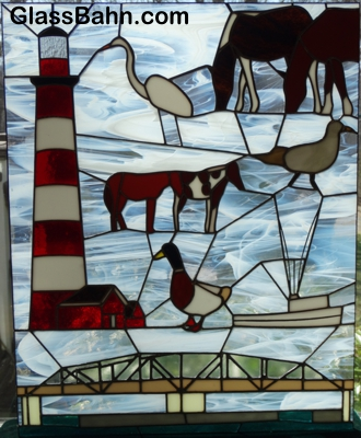 Chincoteague Stained Glass Panel