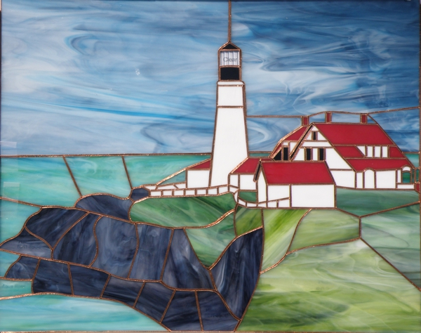 Portland Head Lighthouse Stained Glass