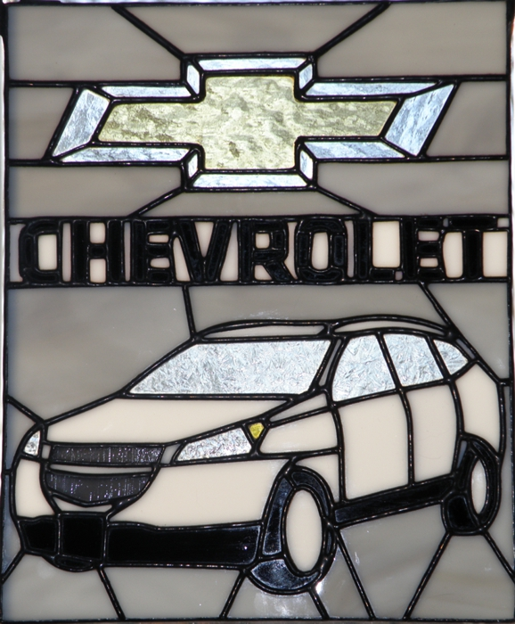 Chevy Traverse Stained Glass Panel