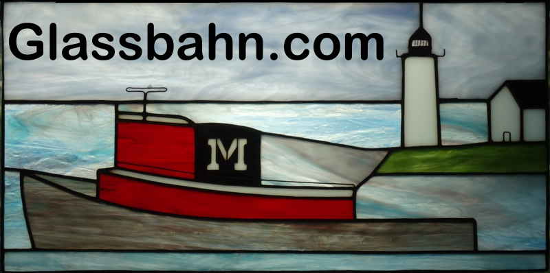 Tugboat Stained Glass Panel